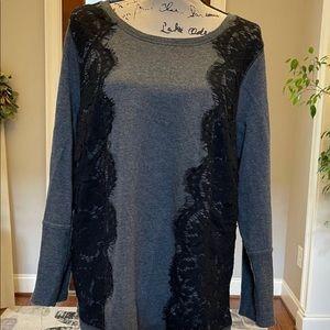 Lacy Moto Vibe Sweater Sweatshirt Top Sz 2X